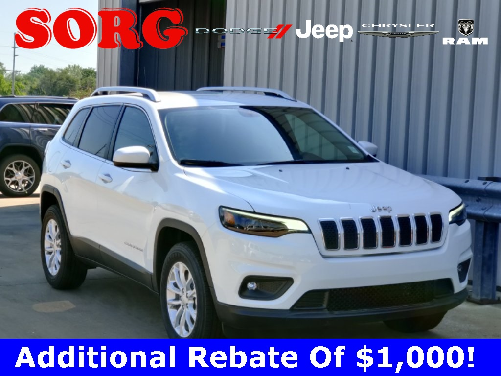 New White White 2019 JEEP Cherokee Latitude Sport Utility 1C4PJMCB2KD414196 K5815 2.4L I4 9-Speed 948TE Automatic SUVs AWD; Heated Seats; Remote Start