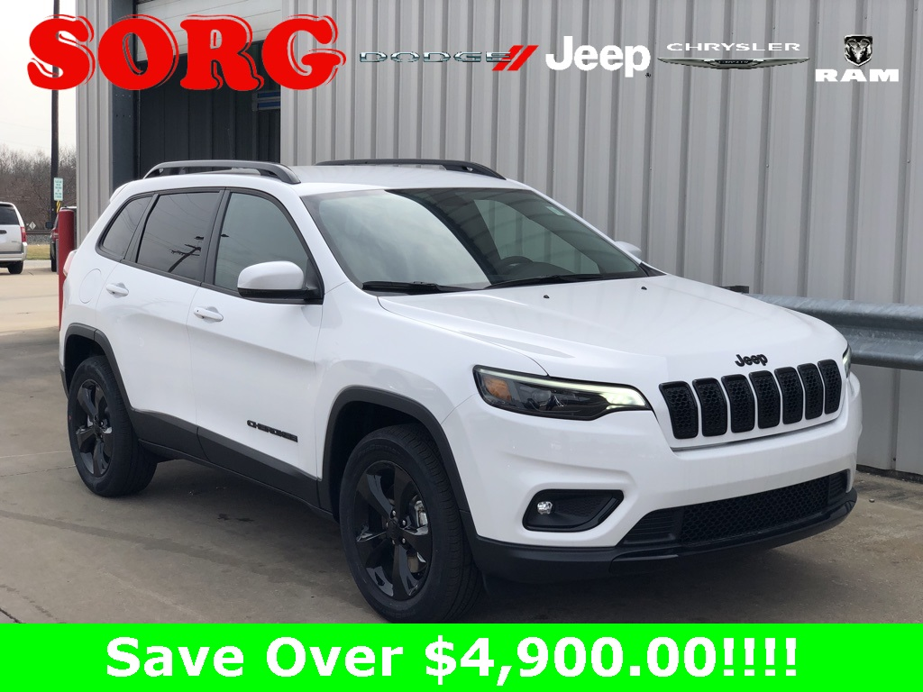 New White White 2019 JEEP Cherokee Altitude Sport Utility 1C4PJMLB9KD400991 K5252 2.4L I4 9-Speed 948TE Automatic SUVs AWD; Heated Seats; Interior Accents; Remote Start