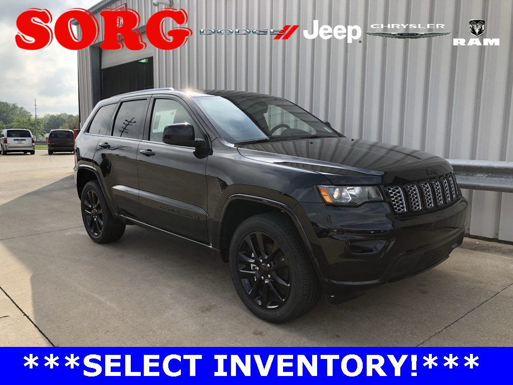 New Black Black 2019 JEEP Grand Cherokee Altitude Sport Utility 1C4RJFAG9KC710034 K5527 3.6L V6 24V VVT 8-Speed Automatic SUVs AWD; Hands-Free Liftgate; Heated Seats; Navigation System; Remote Start; Satellite Radio Ready; Sunroof / Moonroof