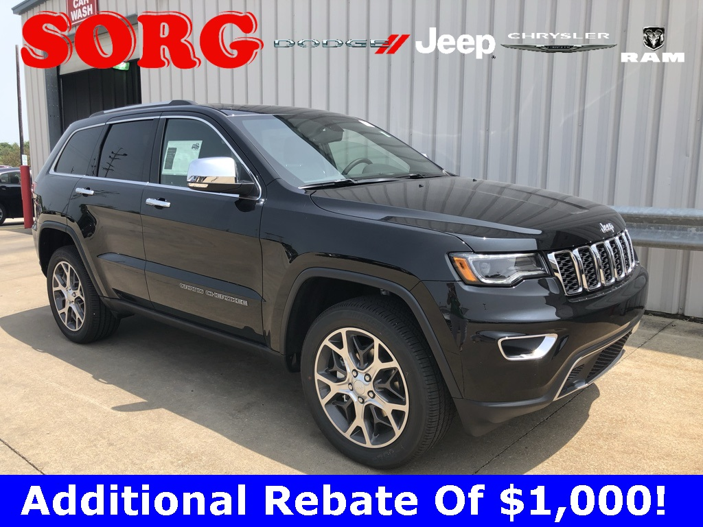 New Black Black 2019 JEEP Grand Cherokee Limited Sport Utility 1C4RJFBG8KC807787 K5561 3.6L V6 24V VVT 8-Speed Automatic SUVs AWD; Fog Lights; Panoramic Sunroof; Xenon Headlights