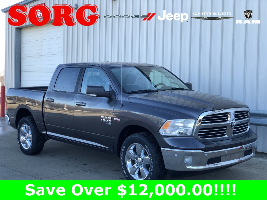 New Gray Gray 2019 RAM 1500 Classic Lone Star Crew Cab 1C6RR7LT7KS570314 K5148 HEMI 5.7L V8 Multi Displacement VVT 8-Speed Automatic Trucks AWD; Heated Seats; Parking Sensors / Assist; Remote Start