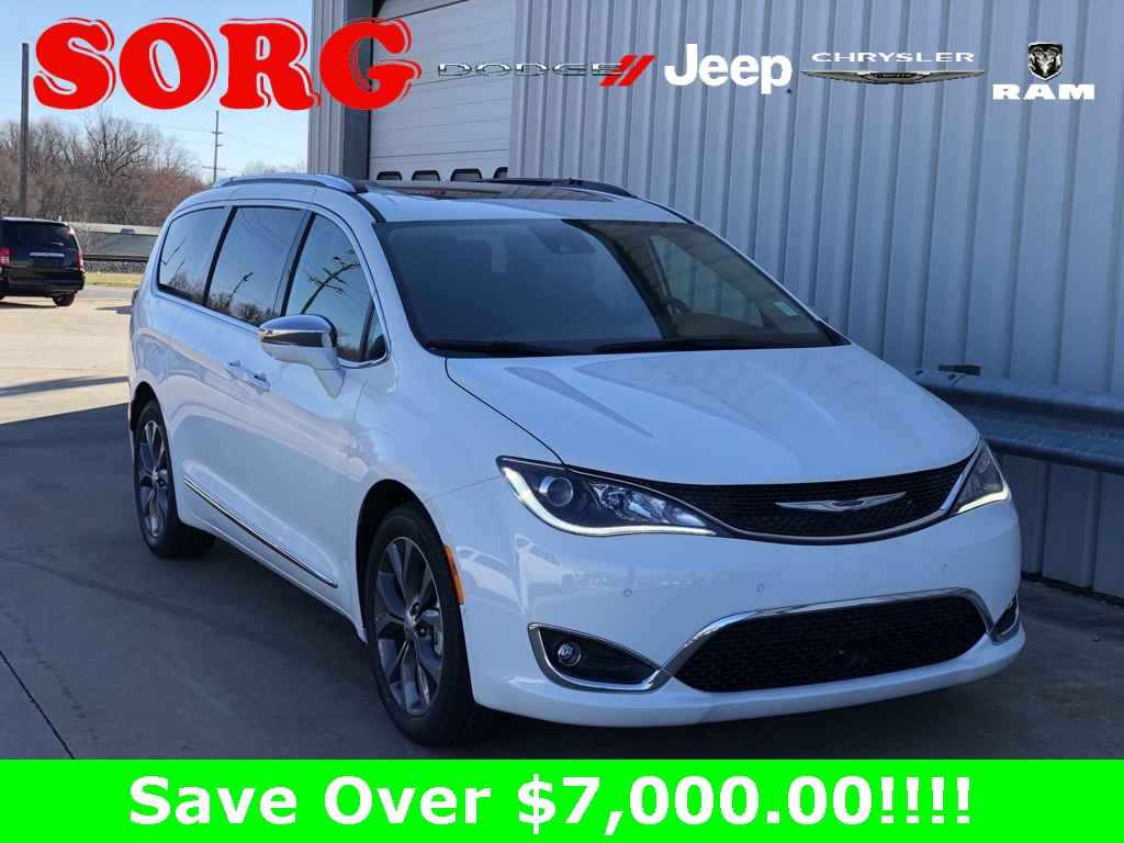 New White White 2019 CHRYSLER Pacifica Limited Passenger Van 2C4RC1GG3KR627632 K5221 3.6L V6 24V VVT 9-Speed 948TE Automatic Vans Adaptive Cruise Control; Forward Collision Warning; Lane Departure Warning; Parking Sensors / Assist