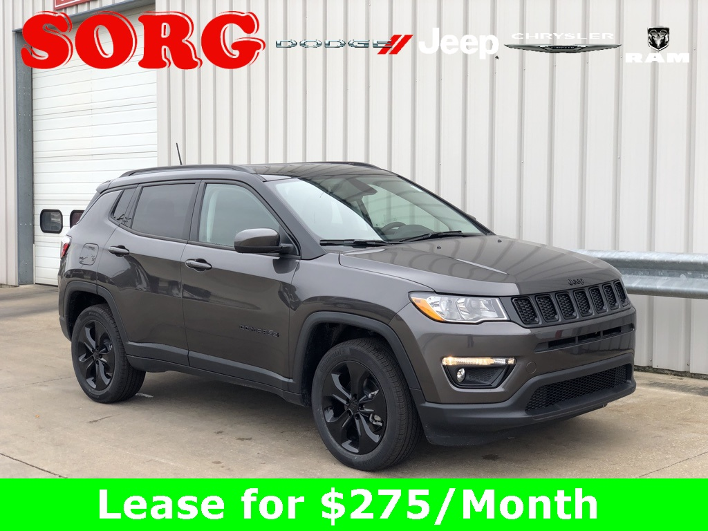 New Gray Gray 2019 JEEP Compass Altitude Sport Utility 3C4NJDBB6KT598528 K5077 2.4L I4 9-Speed Automatic SUVs AWD; Fog Lights; Heated Seats; Interior Accents; Remote Start